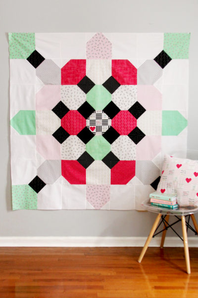 Soda Fountain Quilt with Shine Bright Fabrics