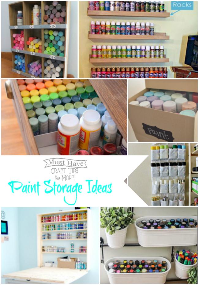 Paint Storage Ideas And Organization