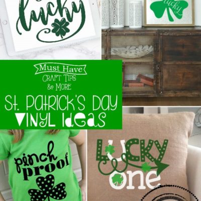 Cute and Creative St Patrick's Day Vinyl Projects