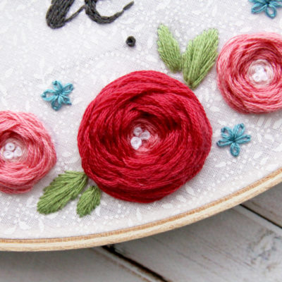 Woven or Wagon Wheel Roses Embroidery Stitch Tutorial