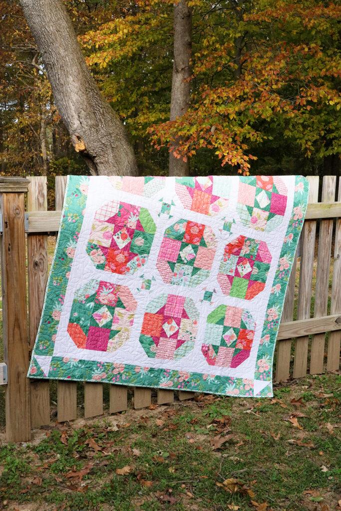 Colorful-Precut-Tea-Rose-Quilt-683×1024