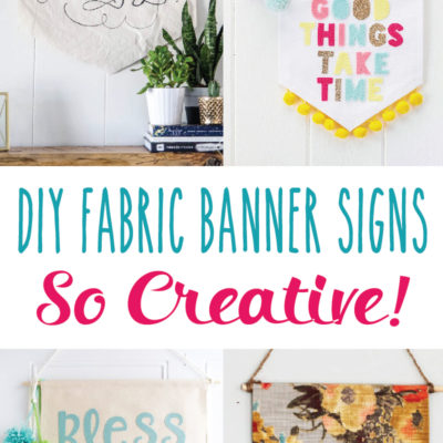 Creative DIY Fabric Banner Signs