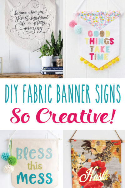 Creative DIY Fabric Banner Signs