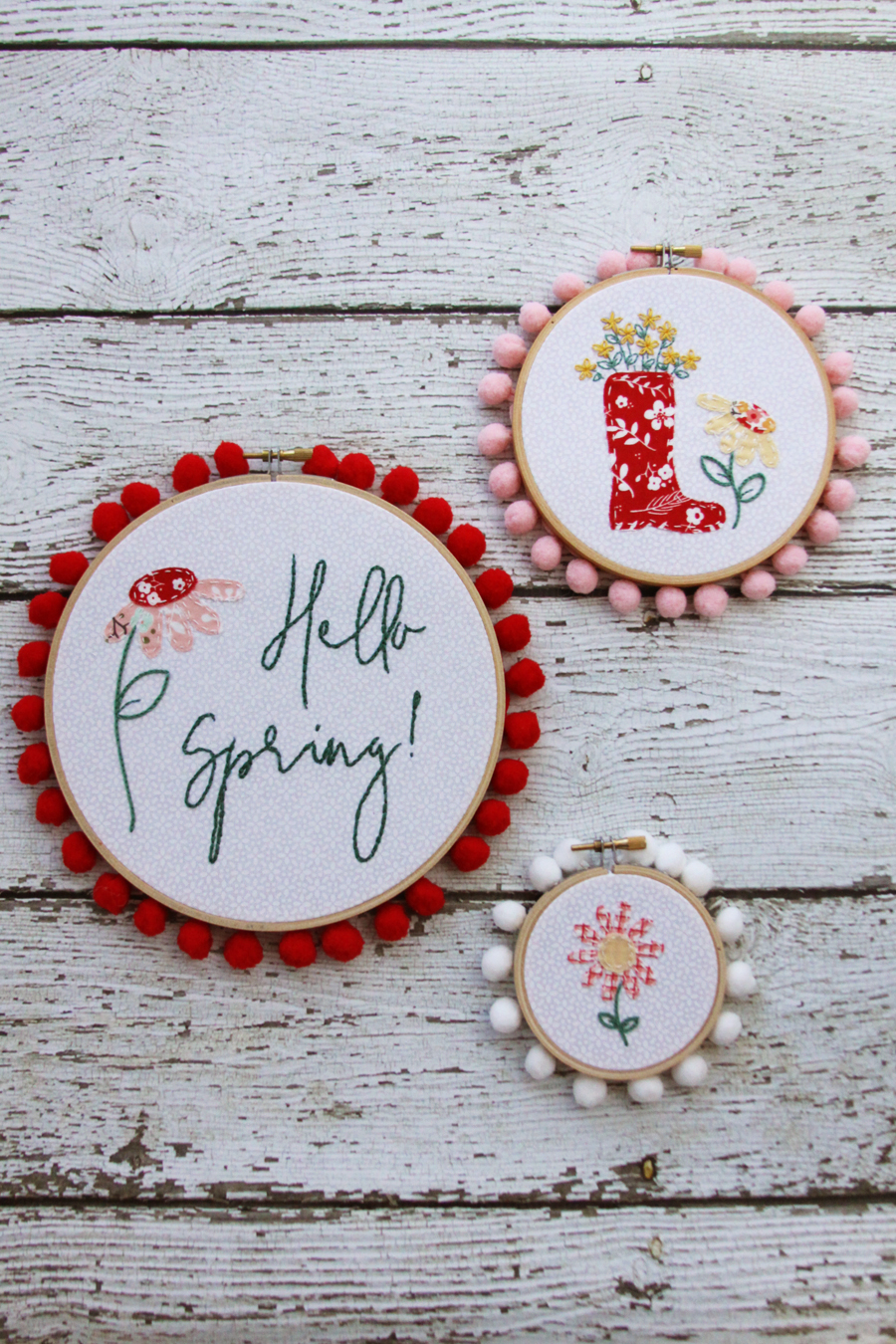Floral Spring Embroidery Hoop Set