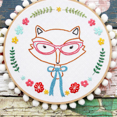 Fox Portrait Embroidery Pattern