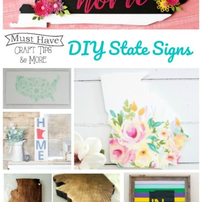 Fun and Pretty DIY State Signs