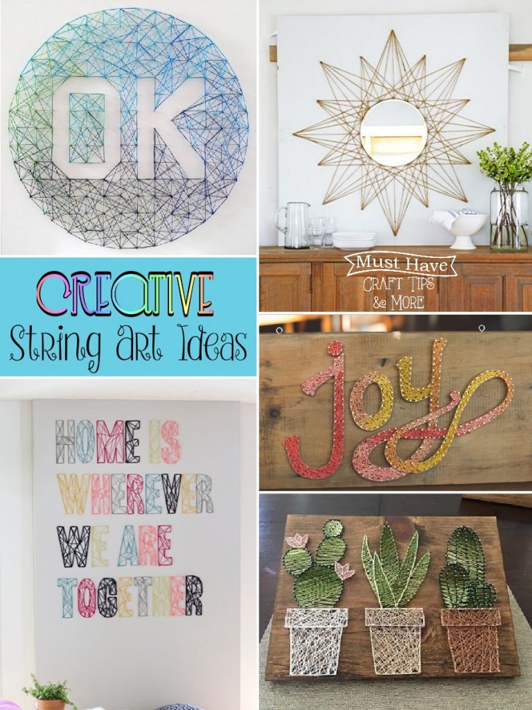 Cute And Creative Diy String Art Projects