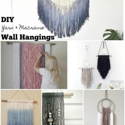 DIY Macrame with Yarn Wall Art