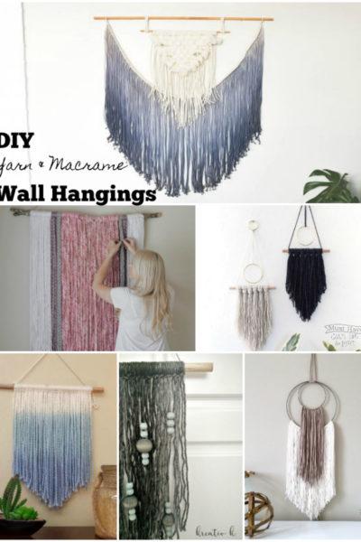 DIY Yarn and Macrame Wall Art