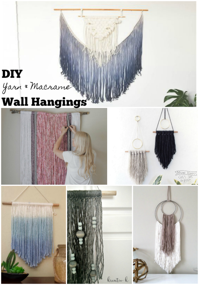 Diy Yarn And Macrame Wall Art
