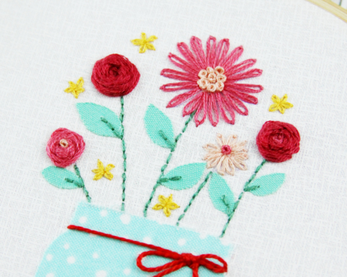 Pretty Embroidered Flowers