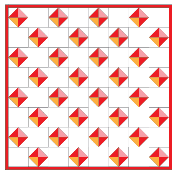 Spring Diamonds Quilt Tutorial | Create a diamond quilt with