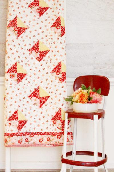 Spring Diamonds Free Quilt Pattern