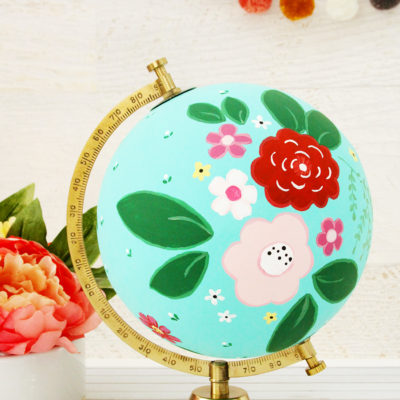 DIY Floral Painted Globe