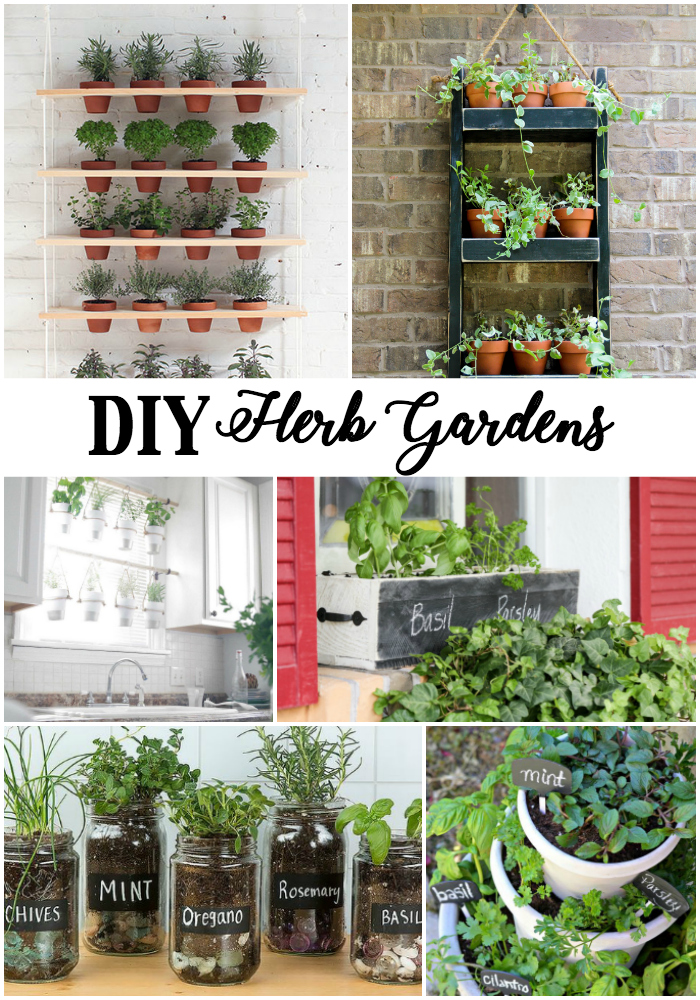 DIY Creative and Pretty Herb Gardens to fit any space!