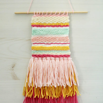 DIY Colorful Weaving Art