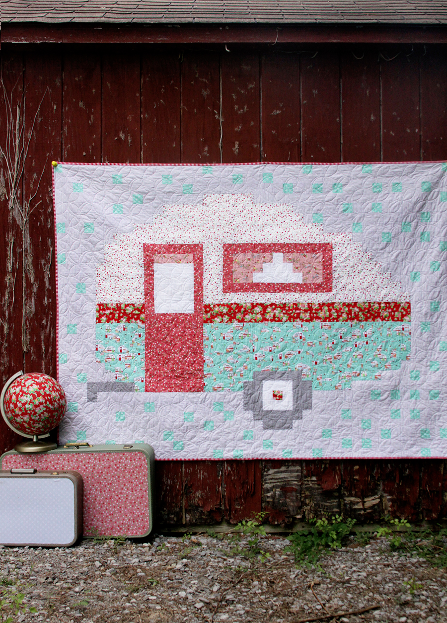 Pixelated Camper Quilt Pattern