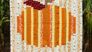 Colorful Strip Pumpkin Quilt with Free Pattern