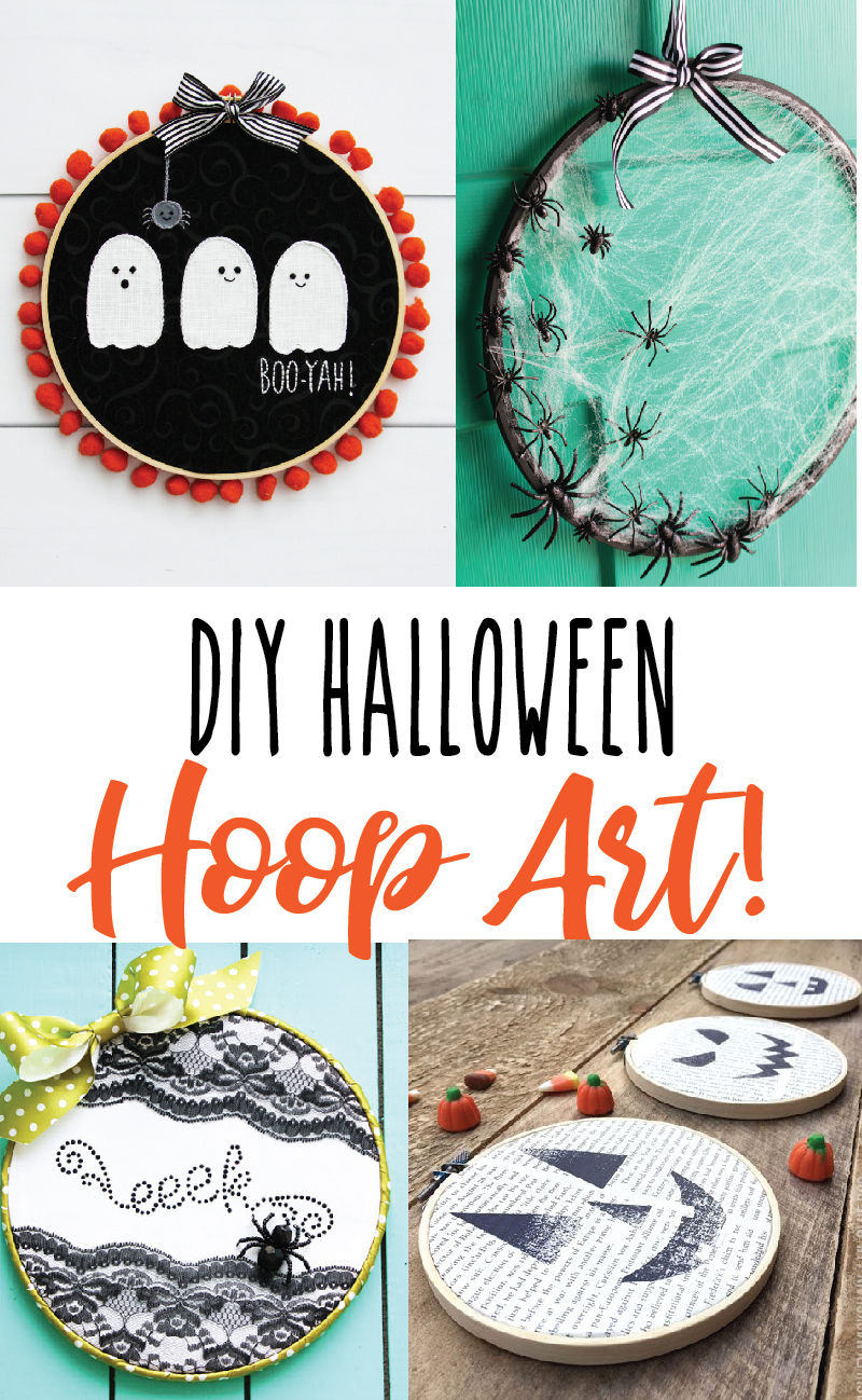 diy halloween embroidery hoop art projects