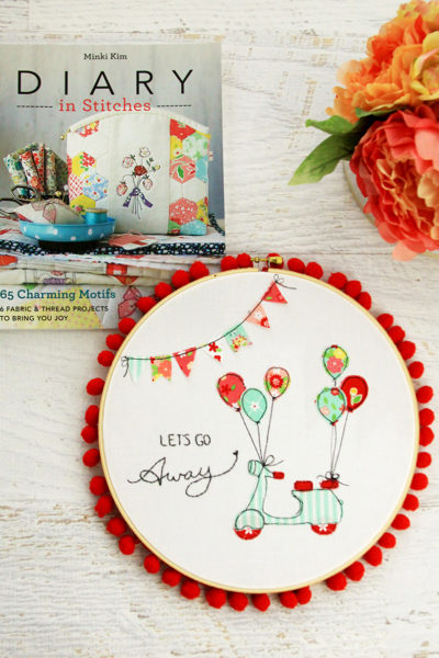 Diary in Stitches Book and Embroidery Hoop