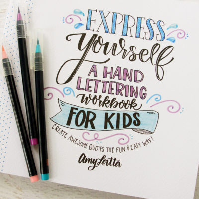 Hand Lettering for Kids Book!