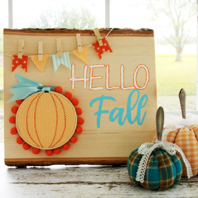 Happy Fall Wooden Entryway Sign