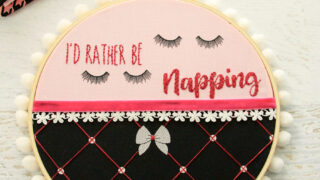 I'd Rather Be Napping Embroidery Hoop Art