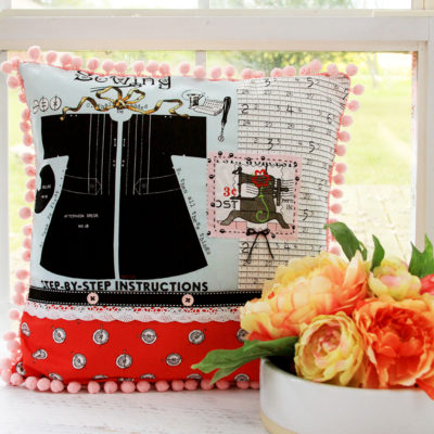 Paperdoll Fabrics Sewing Room Pillow