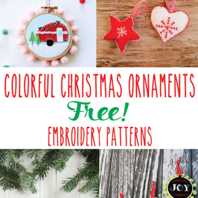 Colorful Christmas Ornament Embroidery Patterns