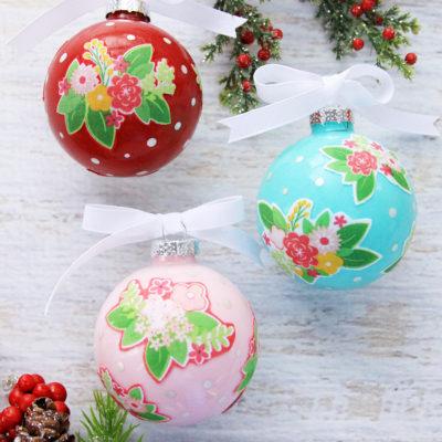 Colorful Floral DIY Ornaments