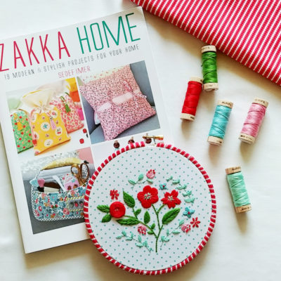 Floral Christmas Embroidery Hoop and Zakka Home Book Tour
