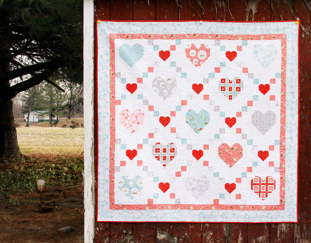 Hearts and Kisses Vintage Keepsakes Quilt