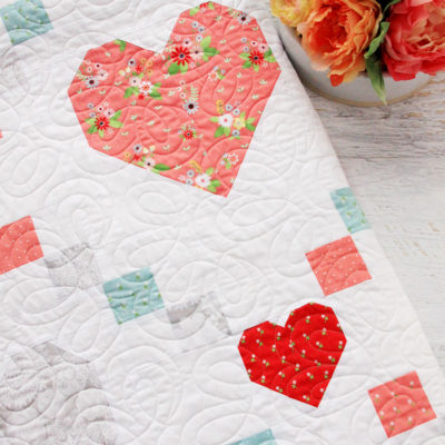 Hearts and Kisses Vintage Keepsakes Quilt Pattern