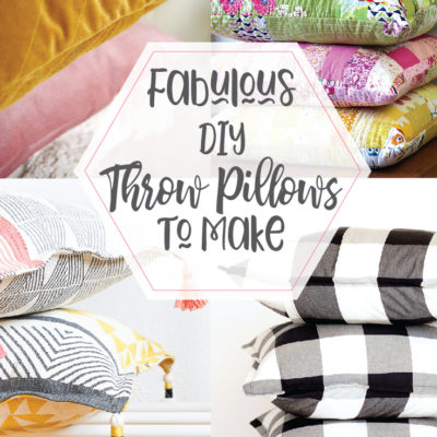 Fabulous DIY Pillows to Sew