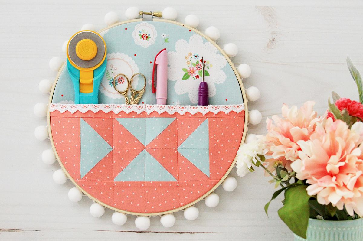 Quilt Supplies Organizer Embroidery Hoop