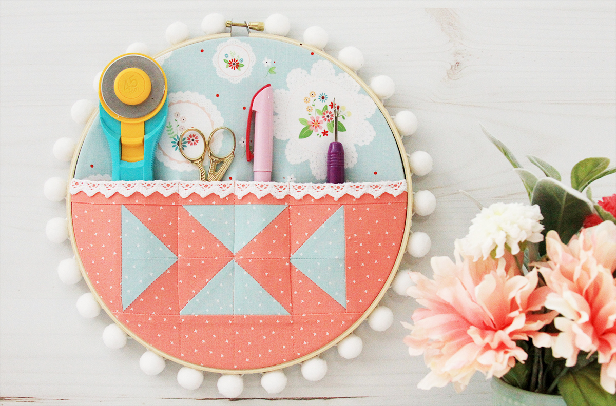 Quilt Supplies Organizer Embroidery Hoop