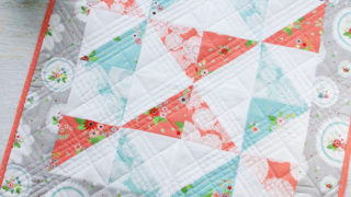 Vintage Paths Pinwheel Mini Quilt