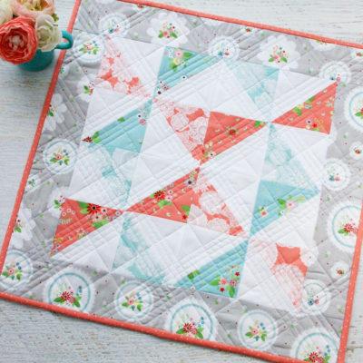Vintage Paths Pinwheel Mini Quilt