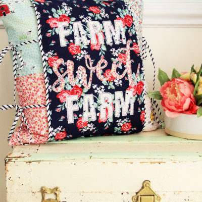 Farm Sweet Farm Floral Pillow