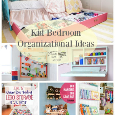 Kid's Bedroom Organization Ideas