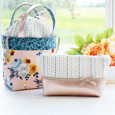 Blooms and Bobbins Fabric Bag Set