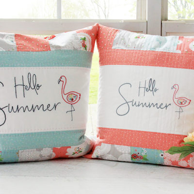 Hello Summer Embroidered Pillows
