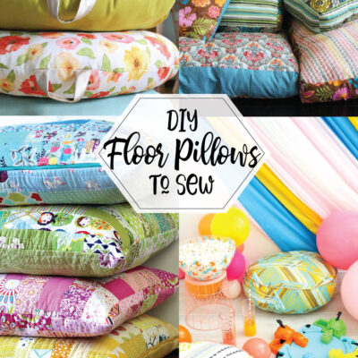DIY Floor Pillows to Sew