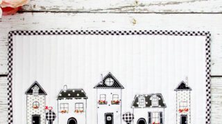 Black and White Neighborhood Mini Quilt