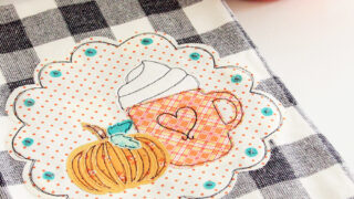 Pumpkin Spice DIY Fall Dish Towel