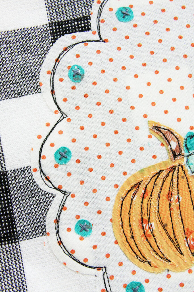 DIY Fall Dish Towel tutorial featured by top US sewing blog, Flamingo Toes.