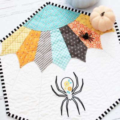Floral Spider Web Quilt Pattern