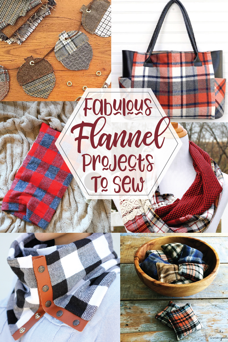 Flannel Sewing Projects featured by top US sewing blog, Flamingo Toes
