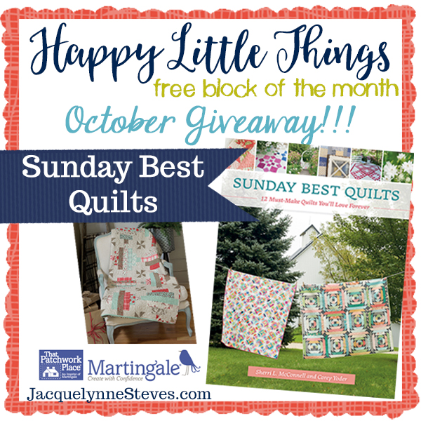 Happy Little Things Quilt Block of the Month featured by top US quilting blog, Flamingo Toes.