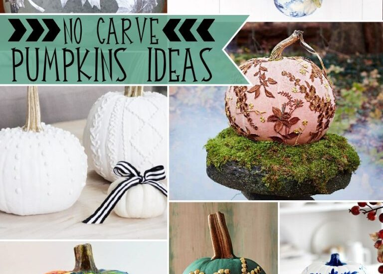 21 Fabulous Cute No Carve Pumpkin Ideas featured by top US craft blog, Flamingo Toes
